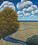 Autumn Along the Connecticut Shore by Scott Kahn (Giclee Print)