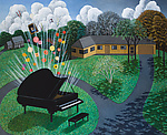 Piano by Scott Kahn (Giclee Print)