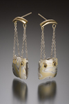 Cusco Earrings by Lisa Jane Grant (Gold & Silver Earrings)