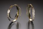 Giant Cali Hoop by Lisa Jane Grant (Gold & Silver Earrings)