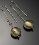 Luang Prabang Earrings in Sedona Nights by Lisa Jane Grant (Gold & Silver Earrings)