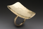 Dish Ring by Peg Fetter (Gold Ring)