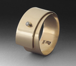 Gold Snap Ring by Peg Fetter (Gold & Stone Ring)