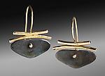 Butterfly Earrings by Peg Fetter (Gold & Silver Earrings)