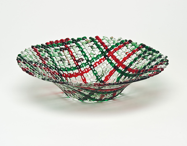 Christmas Confetti Glass Basket