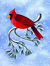 Winter Cardinal by Wynn Yarrow (Giclee Print)