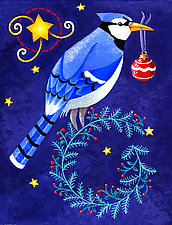 Winter Blue Jay by Wynn Yarrow (Giclee Print)