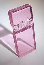 Exhale in Pink by Sarinda Jones (Art Glass Sculpture)