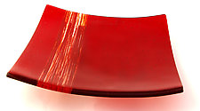 Nightingale Platter by Sarinda Jones (Art Glass Platter)