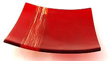 Nightingale Platter by Sarinda Jones (Art Glass Platter)