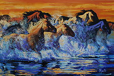 Thunder in the Shallows by Ritch Gaiti (Oil Painting)