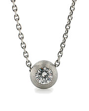 Platinum Duality Pendant by Catherine Iskiw (Platinum and Stone Pendant)