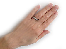 Series 19 - Band in 18k White Gold with Diamond by Catherine Iskiw (Gold & Stone Ring)