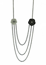 Cherry Blossom Necklace #3 by Catherine Iskiw (Silver & Stone Necklace)