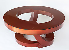Burnt Orange Coffee Table by John Wilbar (Wood Coffee Table)