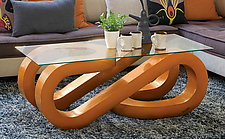 Wave Coffee Table by John Wilbar (Wood Coffee Table)