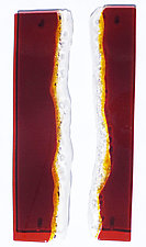 Leverage by Sarinda Jones (Art Glass Wall Sculpture)