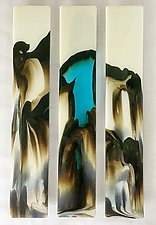 Lucid by Sarinda Jones (Art Glass Wall Sculpture)