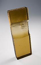 Exhale in Tan by Sarinda Jones (Art Glass Sculpture)