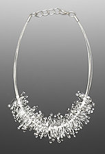 40-Piece Feather Necklace by Marna Clark (Art Glass Necklace)