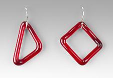 Single GEO Earrings by Marna Clark (Art Glass Earrings)