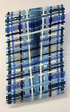 Parallelo-Blue by Ed Edwards (Art Glass Wall Sculpture)