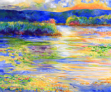 Summer Pond by Judy Hawkins (Oil Painting)