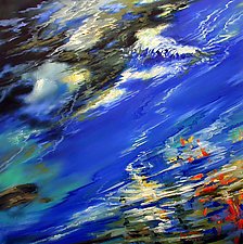 Swimming With the Currents by Judy Hawkins (Oil Painting)