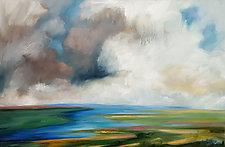 Salt Marsh II by Judy Hawkins (Oil Painting)