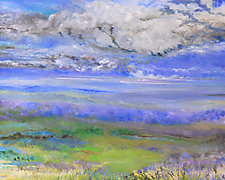 Upper Meadow by Judy Hawkins (Oil Painting)