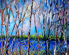 Tangle by Judy Hawkins (Oil Painting)