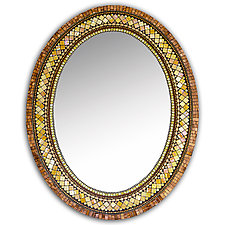 Golden Bronze Mosaic Mirror by Angie Heinrich (Mosaic Mirror)