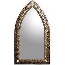 Bronze Silk Gothic Cathedral by Angie Heinrich (Mosaic Mirror)
