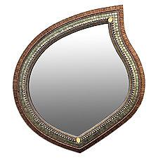 Cinnamon Sage Mirror by Angie Heinrich (Mosaic Mirror)