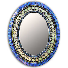 Gift Series: Iris Yellow by Angie Heinrich (Mosaic Mirror)