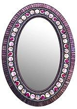 14x20 Purple Bodhi Mirror by Angie Heinrich (Mosaic Mirror)