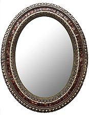 Bronze Leaf Mirror by Angie Heinrich (Mosaic Mirror)