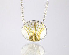 Tiny Prairie Necklace by Edna Madera (Gold & Silver Necklace)