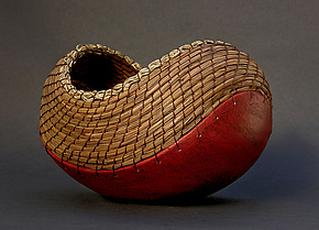 Boat in Terracotta by Hannie Goldgewicht (Ceramic Vessel)