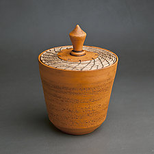 Orange Box by Hannie Goldgewicht (Ceramic Vessel)