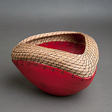 Triangle Bowl in Red by Hannie Goldgewicht (Ceramic Bowl)