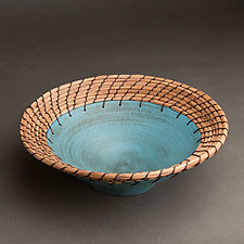 Turquoise Plate by Hannie Goldgewicht (Ceramic Bowl)