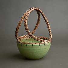 Basket by Hannie Goldgewicht (Ceramic Basket)