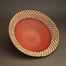 Terra Cotta Centerpiece Bowl by Hannie Goldgewicht (Ceramic Bowl)