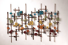 Rainbow by Hannie Goldgewicht (Mixed-Media Wall Sculpture)