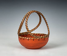 Orange Basket by Hannie Goldgewicht (Ceramic Basket)