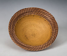 Ochre Plate by Hannie Goldgewicht (Ceramic Plate)