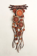 Flow in Autumn by Hannie Goldgewicht (Mixed-Media Wall Sculpture)
