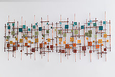 Double Rainbow by Hannie Goldgewicht (Mixed-Media Wall Sculpture)