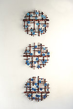 Stages by Hannie Goldgewicht (Mixed-Media Wall Sculpture)